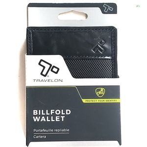 Travelon Men's Billfold Black Wallet